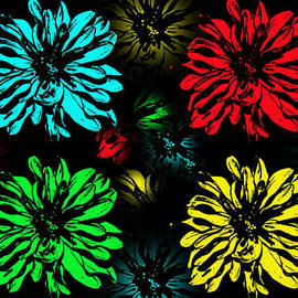 Aimee L Maher Photography and Art - Floral Pop Art