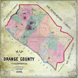 1889 Orange County California Map - Jon Neidert