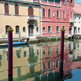 Nicola Simeoni - The colors and reflections on the waters of the Canal Vena, Chioggia, Venice lagoon.