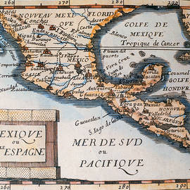 French School - Antique Map of Mexico or New Spain