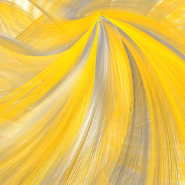 Lourry Legarde - As The Sun Shines - Yellow And Gray Art