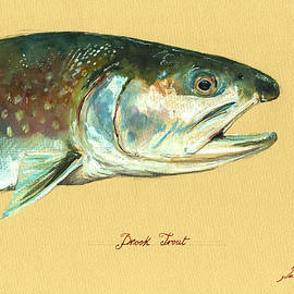 Brook trout watercolor - Juan  Bosco