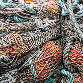 Bundle of Fishing Nets and Buoys - Carol Leigh