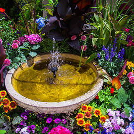 Fountain In Beautiful Garden - Garry Gay