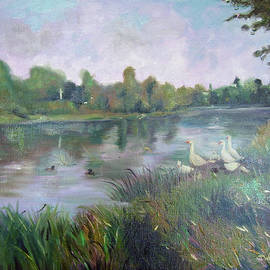 Jeni Westcott - Geese by the river