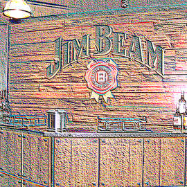 Marian Bell - Jim Beam Tasting Area in Colored Chalk