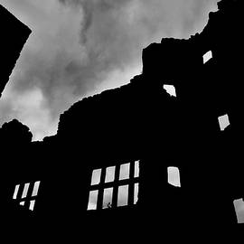 Andy Smy - LUDLOW STORM threatening skies over the ruins of a castle spooky halloween