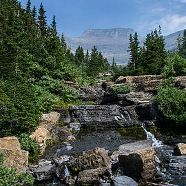 Mick Anderson - Lunch Creek and Pollock Mt in Glacier National Park