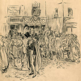 Man at Lottery Office - William Glackens