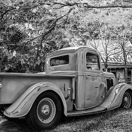 Debra and Dave Vanderlaan - Old Ford at the Farm in Black and White