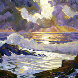 PEBBLE BEACH SUNSET - David Lloyd Glover