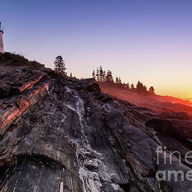 Dawna  Moore Photography - Pemaquid Sunrise Pemaquid Point Lighthouse Maine