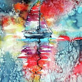 Kovacs Anna Brigitta - Sailboat at the sinshine