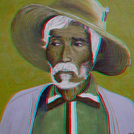 Brian Wallace - White-haired Man 2D-3D Anaglyph Conversion