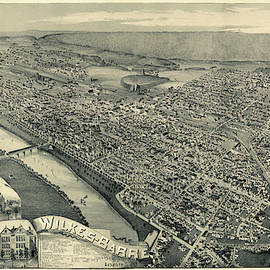 Map Of Wilkes Barre 1889 by Andrew Fare
