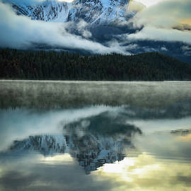 Morning On Maligne Lake by Dan Sproul