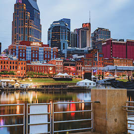 Nashville Tennessee From the Docks of the East Bank by Gregory Ballos