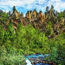 Cliffs By The River by Joel Bruce Wallach