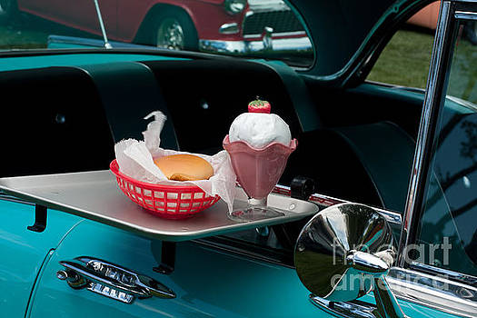 Gunter Nezhoda - hamburger drive in classic car