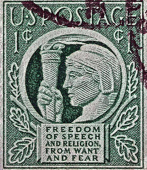 Bill Owen - 1943 Freedom of Speech and Religion Stamp