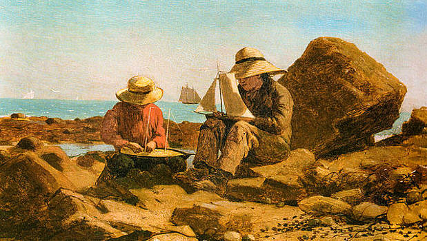 Waterscape Paintings Artwork Collection: Boys