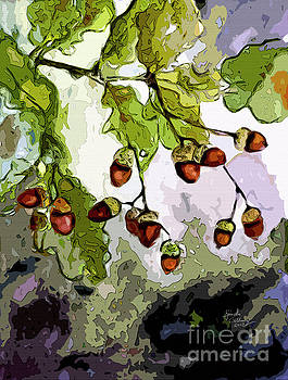Ginette Callaway - Abstract Acorns and Oak Leaves