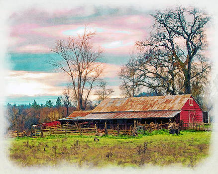 William Havle - Barn In Penn Valley Painted
