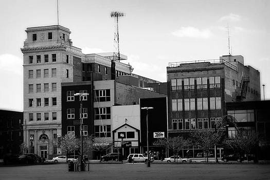 Scott Hovind - Downtown Flint Michigan Black and White