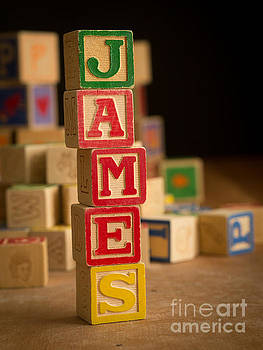 Edward Fielding - JAMES - Alphabet Blocks