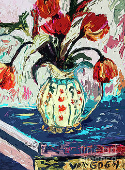 Ginette Callaway - Modern Abstract Tulips Still Life