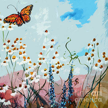Ginette Callaway - Monarch Butterfly Modern Art