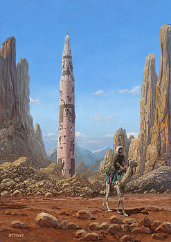 Martin Davey - Old Saturn V rocket in desert