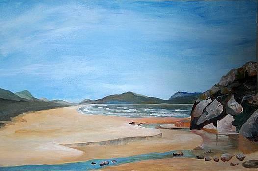 Tracey Harrington-Simpson - Sandy Beach and Rock Pool