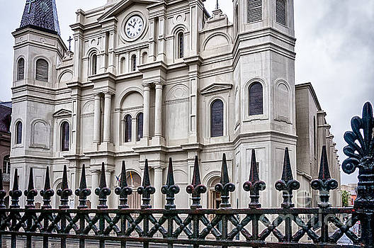 Kathleen K Parker - St. Louis Cathedral and Fence