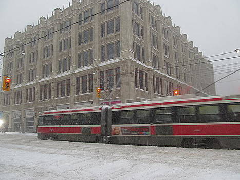Alfred Ng - streetcar in snow storm