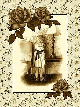 Joyce Geleynse - Vintage Look Pencil Drawing of Child