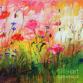 Ginette Callaway - Wildflowers and Pink Poppies
