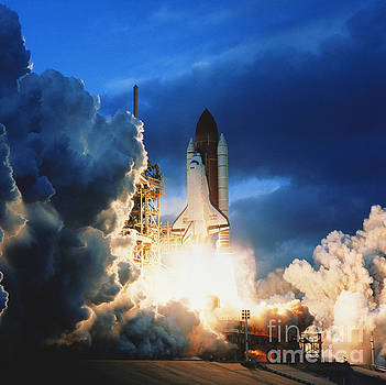 Science Source - Shuttle Lift-off