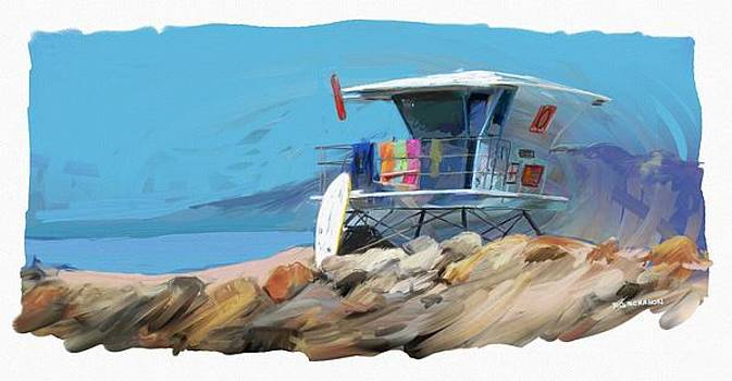 RG McMahon - Lifeguard Tower Ventura California