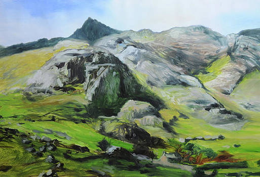 Harry Robertson - Sketch of mountains in Snowdonia