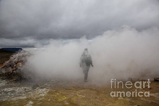 Greg Dimijian - Walking Through Steam Vent In Iceland