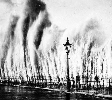 Science Source - Waves Smashing Seawall, 1938