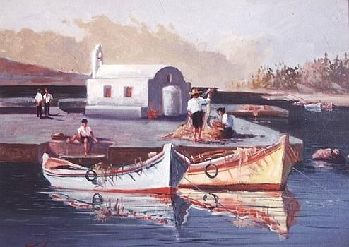 George Siaba - Greek island scene