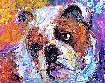 Svetlana Novikova - Impressionistic Bulldog painting