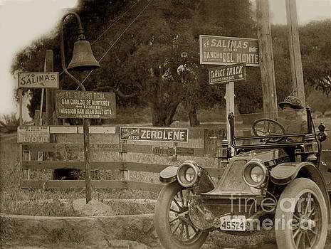 California Views Mr Pat Hathaway Archives - 1911 Franklin Model G auto El Camino Real  Mission Bell near the H
