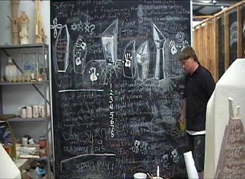 Stephen Hawks - Blackboard Drawing