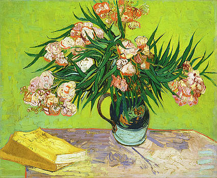 Vincent van Gogh - Vase with Oleanders and Books