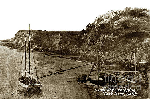 California Views Mr Pat Hathaway Archives - A two-masted  schooner at Timber Cove doghole port
