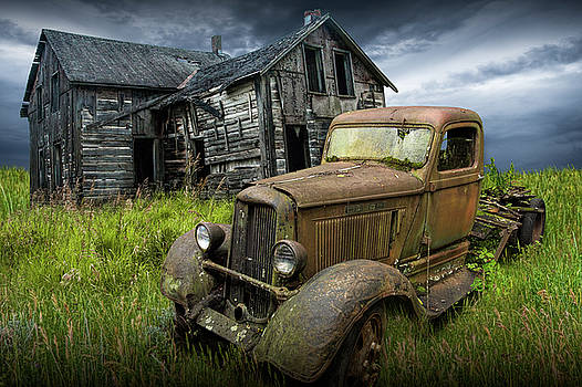 Randall Nyhof - Abandoned Dodge Truck and Farm House