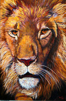 Mary Jo Zorad - African Wilddlife Lion Faces of Nature Series